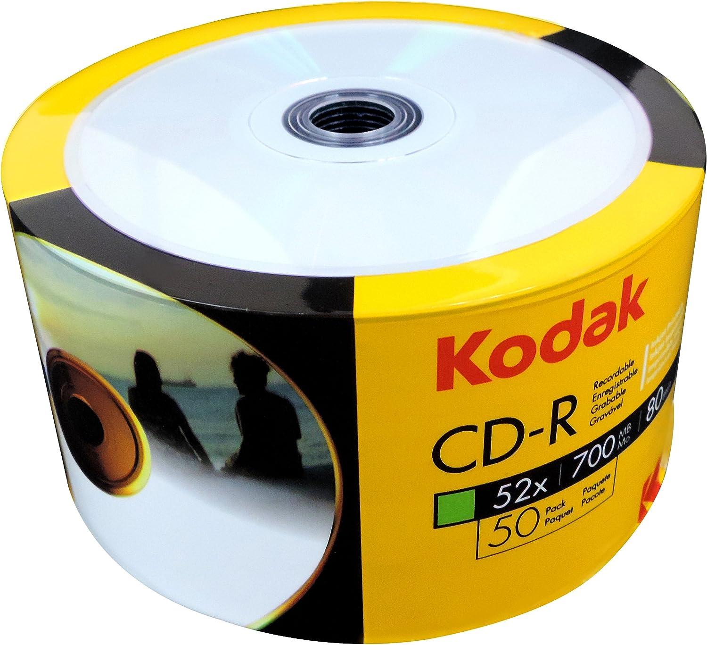 Cd-r kodak 52x inkjet ff printable bobina 50 uds: Amazon.es ...