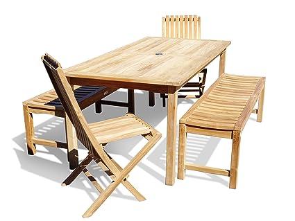 Cool Amazon Com Windsors Premium Grade A Teak Dining Set 71X Dailytribune Chair Design For Home Dailytribuneorg