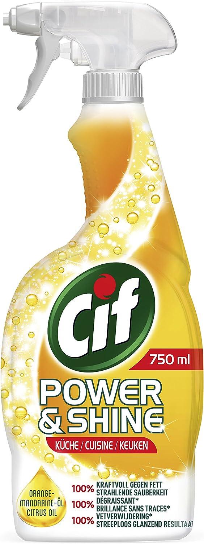 Cif Power und Shine Reiniger Spray Küche, 18er Pack (18 x 18 ml)