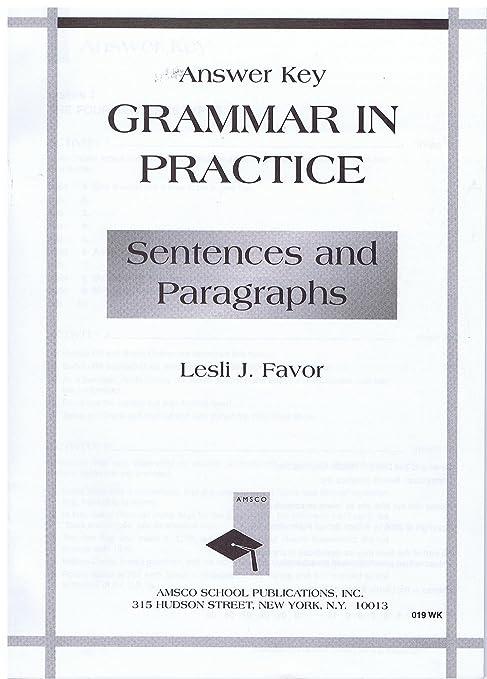 Amazon com : Grammar in Practice Sentences and Paragraphs