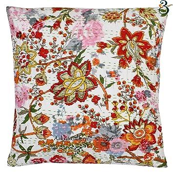 Pleasing Indian Kantha Kissenbezug Sofa Set Baumwolle Handgefertigt Ncnpc Chair Design For Home Ncnpcorg
