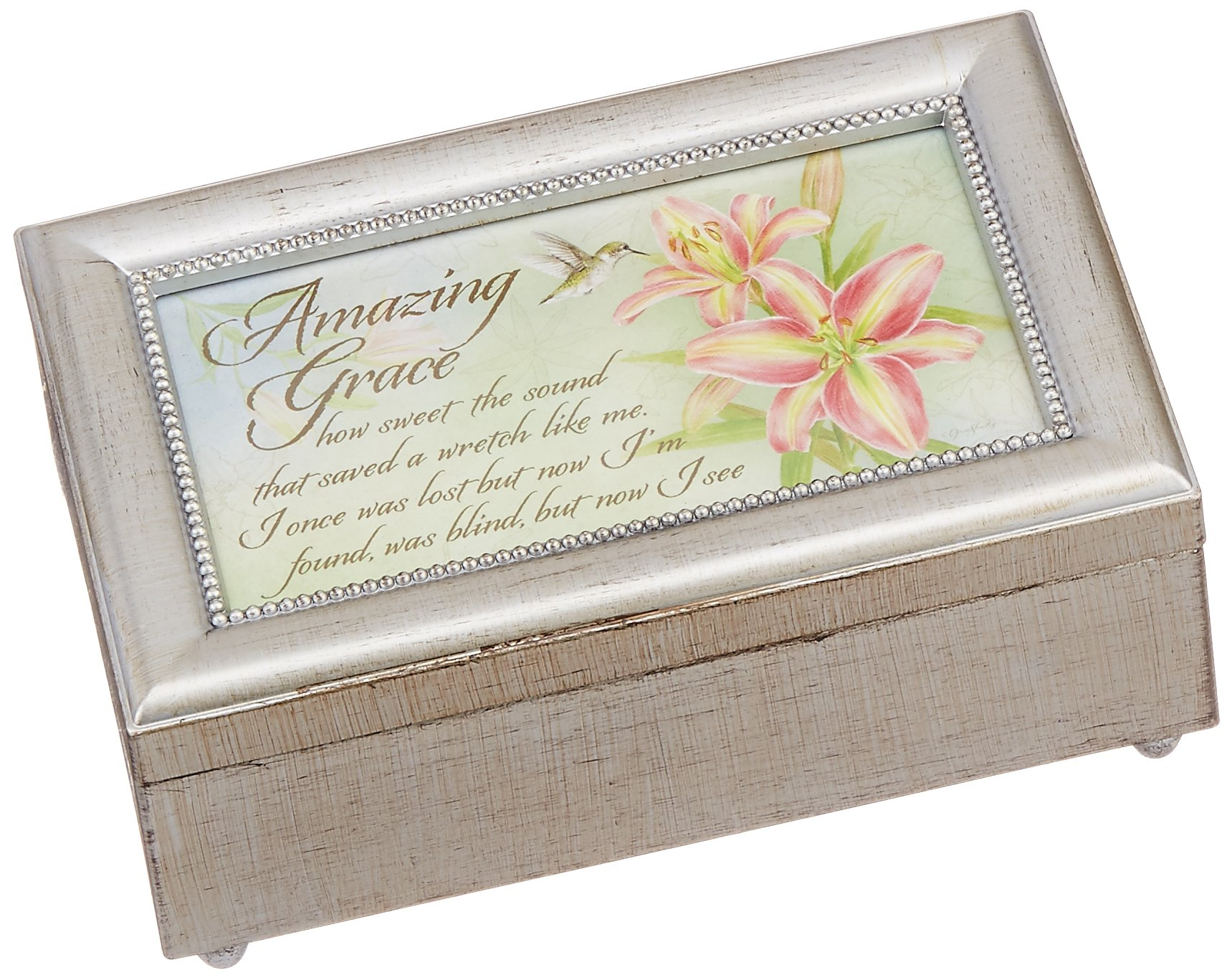 Carson Home Accents 18289 Amazing Grace Jane Shaky Music Box, 6-Inch by 4-Inch by 2-1/2-Inch by Carson