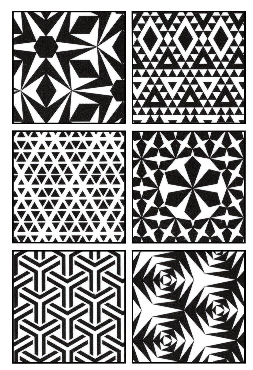 Cedar Canyon Textiles Artist's Paintstiks Rubbing Plates, Triangles, 6-Pack by Cedar Canyon Textiles