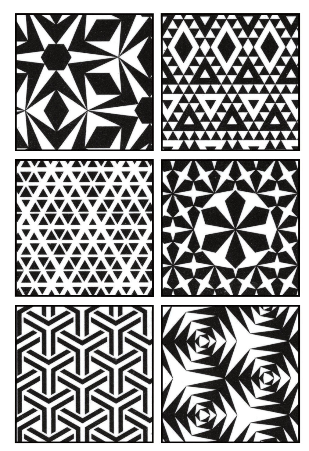 Cedar Canyon Textiles Artist's Paintstiks Rubbing Plates, Triangles, 6-Pack
