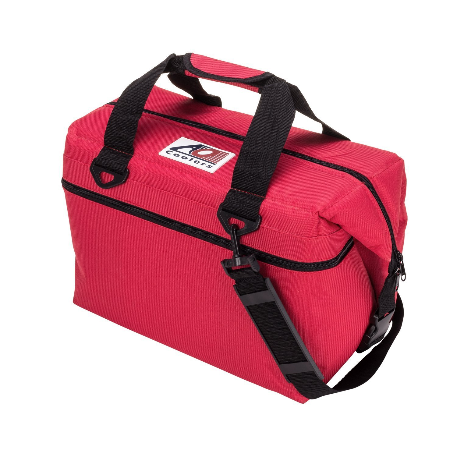 AO Coolers Canvas Soft Cooler with High-Density Insulation, Red, 36-Can