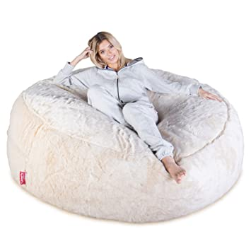 Lounge Pug® - Fluffy FAUX FUR - GIANT Bean Bag SOFA - MEGA MAMMOTH ... 8018fb8a22f39