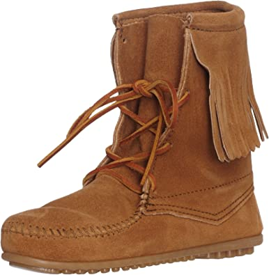 Minnetonka Women S Tramper Ankle Hi Boot Taupe Suede 5 M Us Ankle Bootie