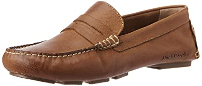Hush Puppies Men's Monaco-S Gold Leather Loafers - 11 UK/India (45