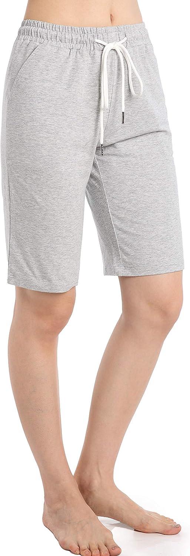 Pantalon Longueur Genou Femme Ete Short Sport Pyjama Grande Taille avec Poche