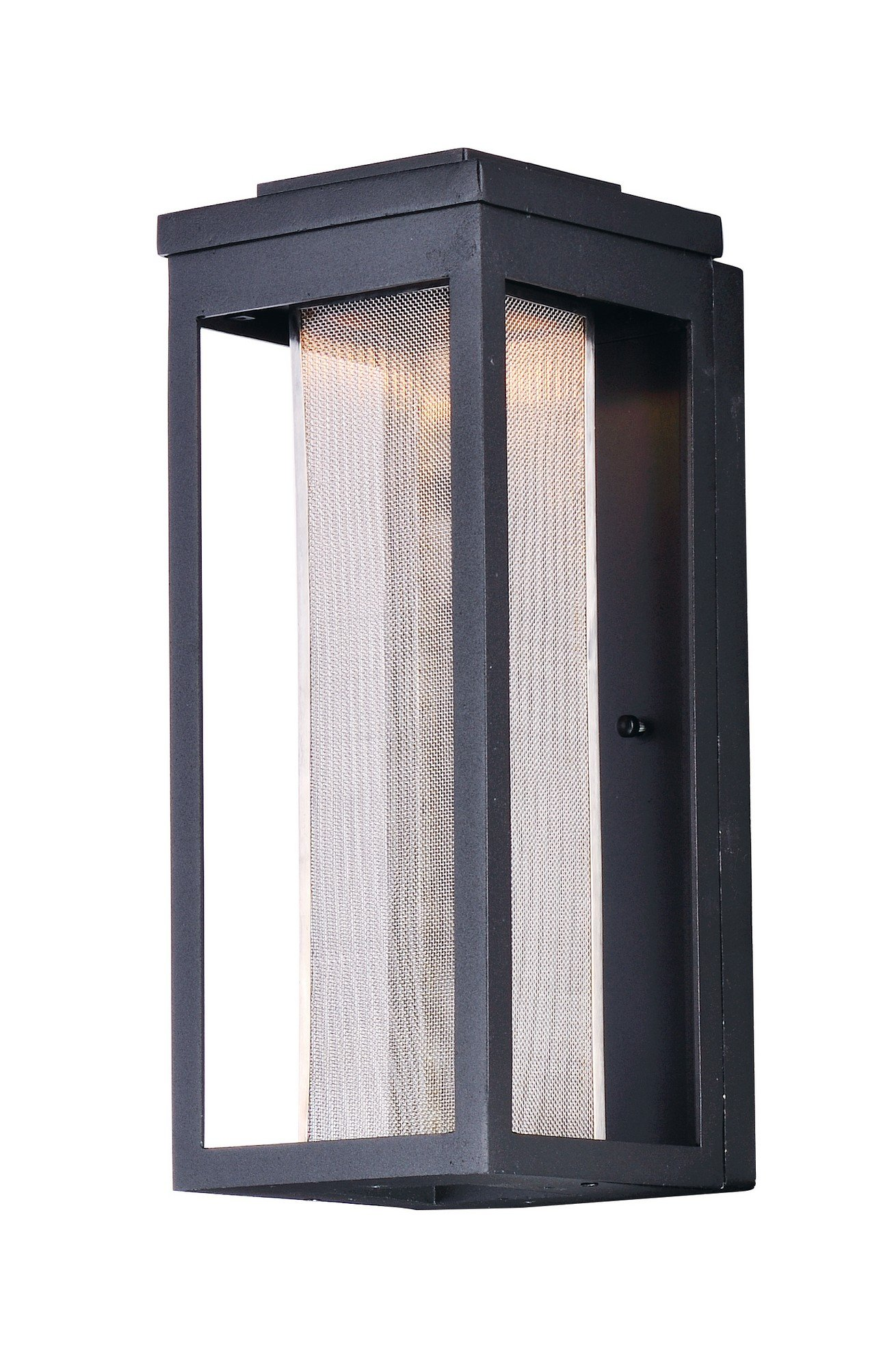 Maxim 55904MSCBK Salon LED 1-Light Outdoor Wall, Black Finish, Glass, PCB LED Bulb , 100W Max., Damp Safety Rating, Standard Dimmable, Shade Material, 3450 Rated Lumens