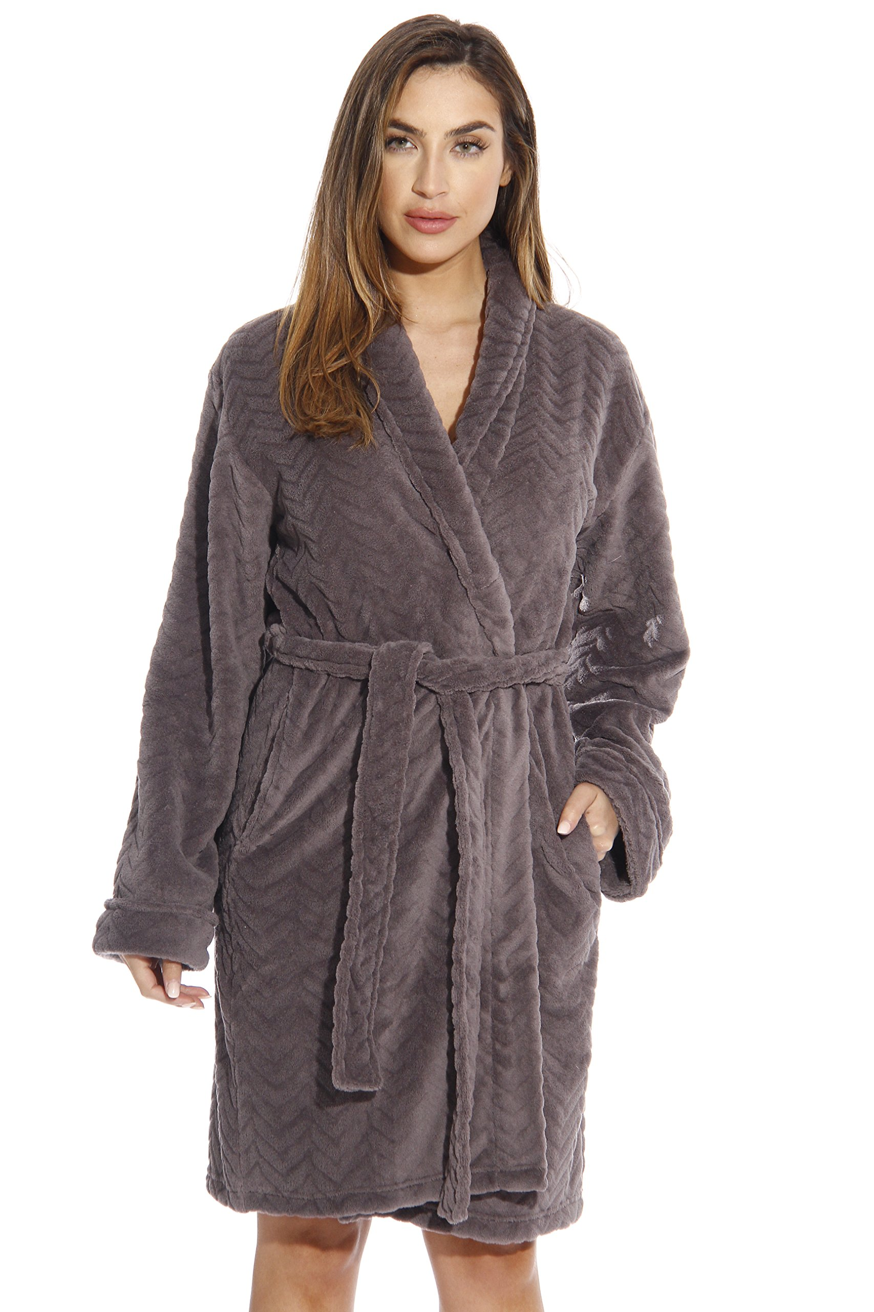 6312-Charcoal-M Just Love Kimono Robe / Bath Robes for Women