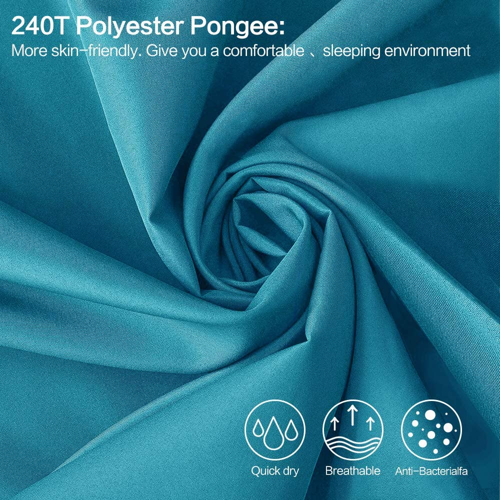 Airplane Forceatt Sleeping Bag Liner-Lightweight Travel Camping Sheet Prevent Dirty On Business Hotel,long 84in x 33.85in Suitable for Backpacking Camping Train