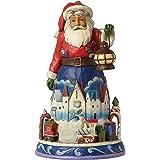 Hearwood Creek 4042963 Resina Babbo Natale con il Piccolo Treno, Disegno da Jim Shore, 24 cm