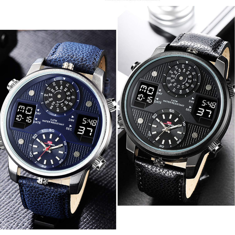 3e78a04d5f76 YUNDING Reloj Deportivo Reloj Acuático De 50 Metros Reloj Inteligente  Bluetooth con Puntero Digital Pantalla De Calendario Semanal