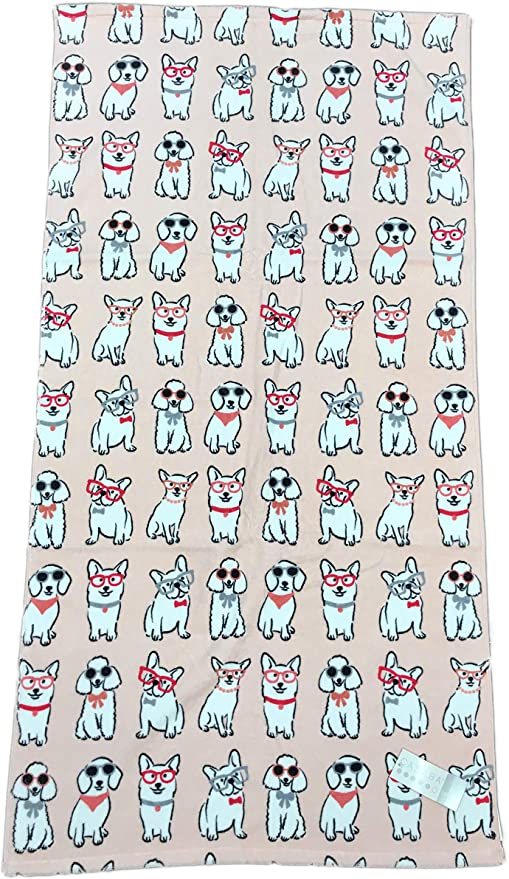BOSTON TERRIER design and Name Embroidered onto Towels Bath Robes Hooded Towel