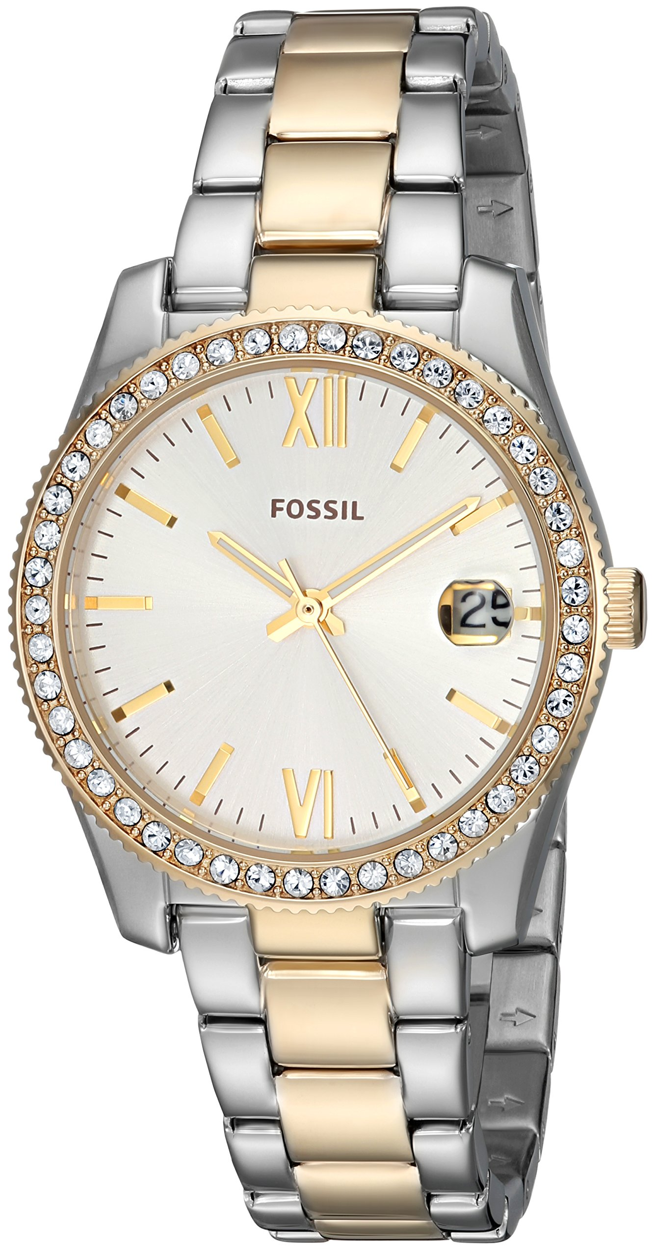 Fossil Women's 'Scarlette' Quartz Stainless Steel Casual Watch, Color:Silver-Toned (Model: ES4319)