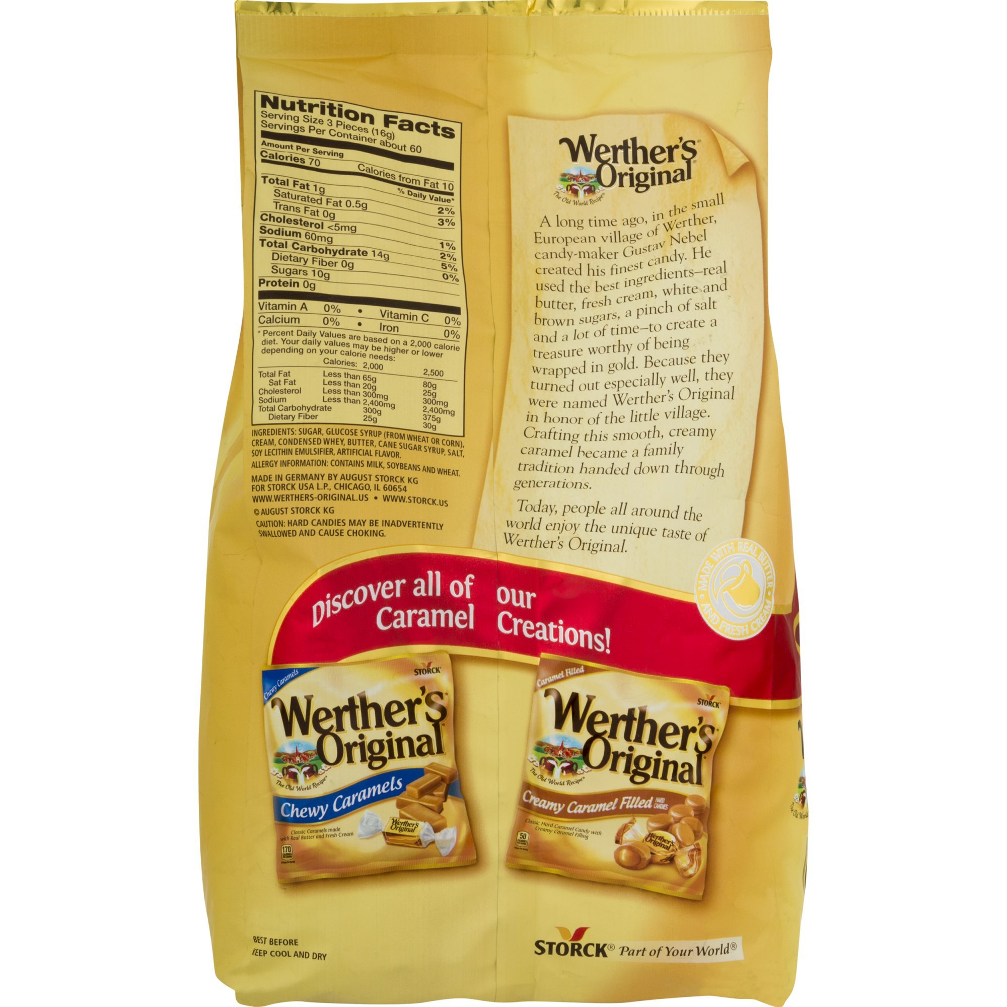 Werther's Original Caramel Hard Candy, 34.0-Ounce Bags (Pack of 5) by  (Image #1)
