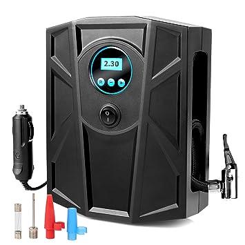 MVPOWER Compresor de Aire Compresor de Coche Inflador Portátil de Neumáticos con Pantalla Digital Bomba de