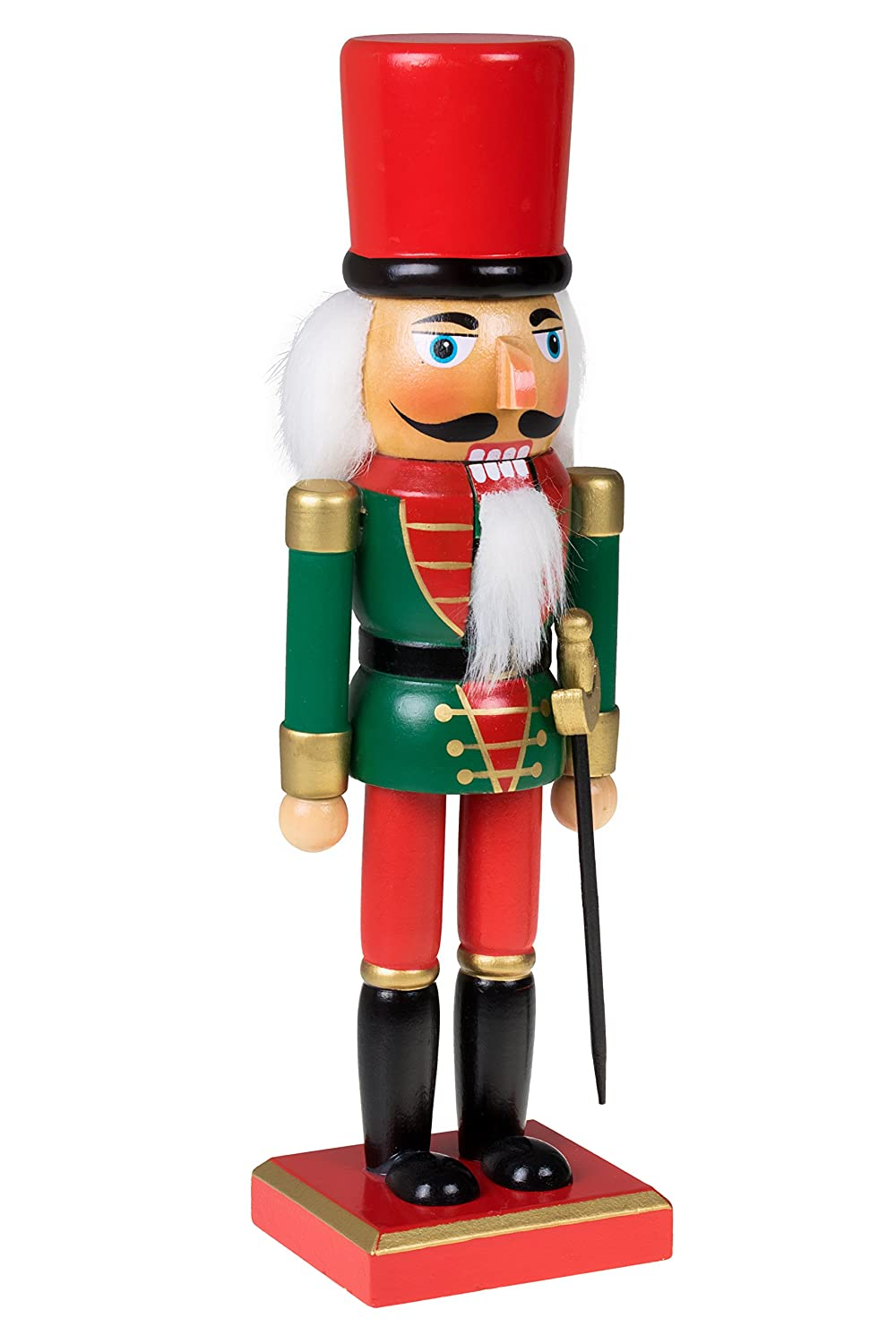 Amazon.com: Traditional Christmas Green and Red Soldier Nutcracker ...