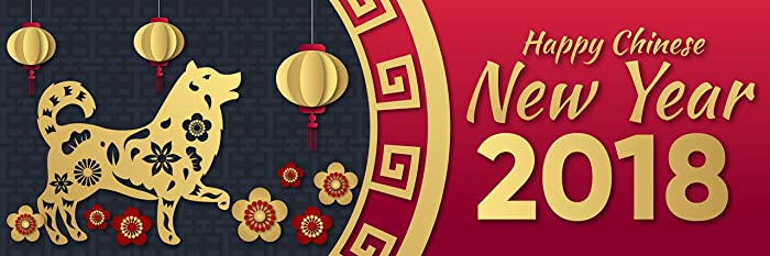 happy chinese new year banner party backdrop decoration