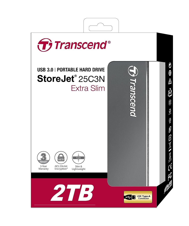 Transcend 2 Tb Storejet C3 Luxury Slim Usb 30 External Hardisk Eksternal Hard Drive Ts2tsj25c3n Computers Accessories
