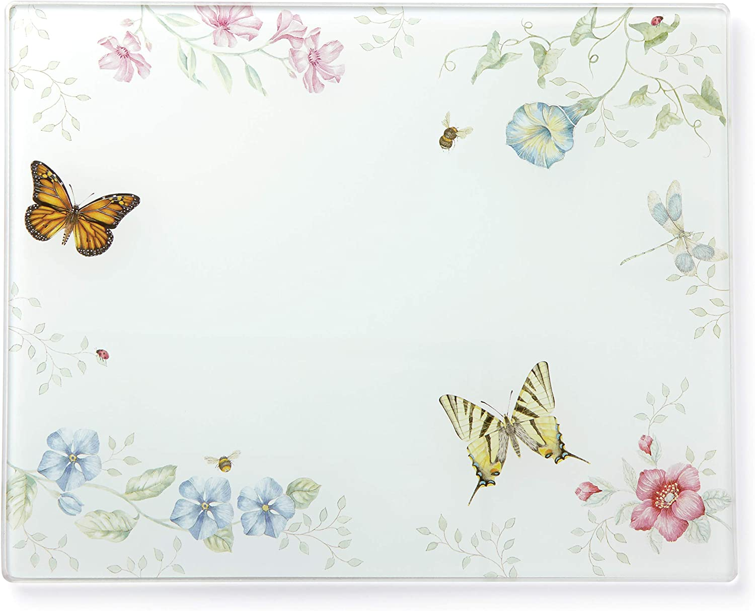 LENOX 888081 Butterfly Meadow Large Glass Cutting Board
