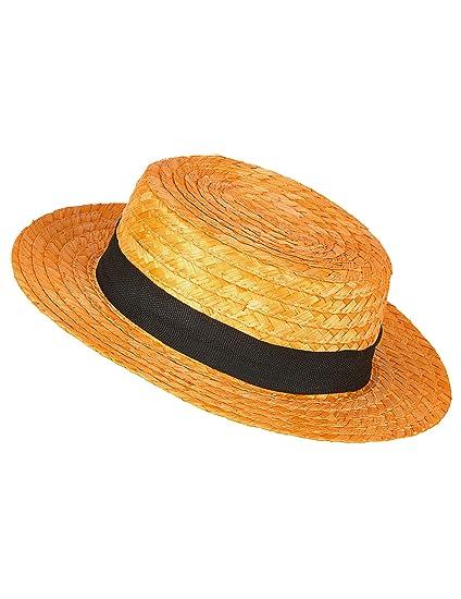 Sombrero paja gondolero - Única  Amazon.es  Juguetes y juegos 42b7cf03e38