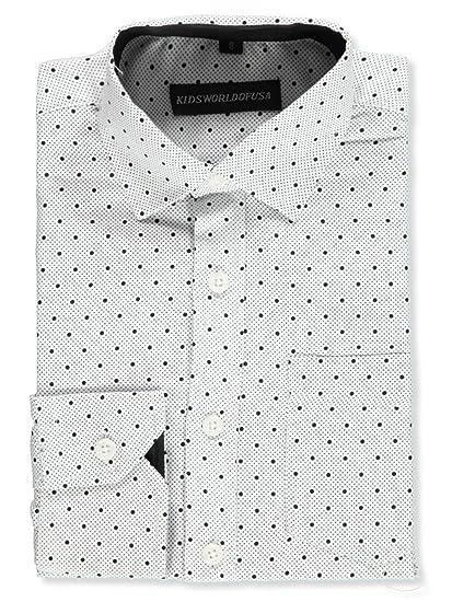 0e2f134a26ed Amazon.com: Kids World Boys' Dress Shirt: Clothing