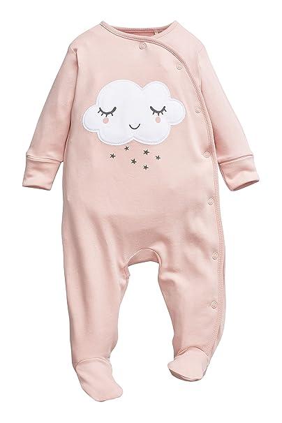 next Bebé Niña Pack De Dos Pijamas Tipo Pelele Nubes con Diadema (0 Meses-2 Años) Estándar: Amazon.es: Ropa y accesorios
