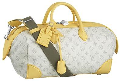 700269b51e66 Louis Vuitton Monogram Denim Speedy Round - Yellow  Handbags  Amazon.com