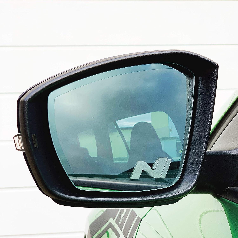 Printattack P047 V1 2er Set Spiegelaufkleber Milchglas Außenspiegel Etched Glass Auto Aufkleber Sticker Rückspiegel Auto