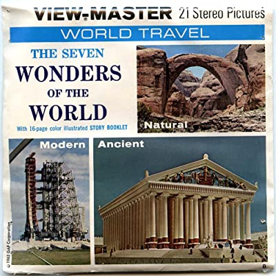 Classic ViewMaster - World Travel - The Seven Wonders of the World - ViewMaster Reels 3D: Toys & Games