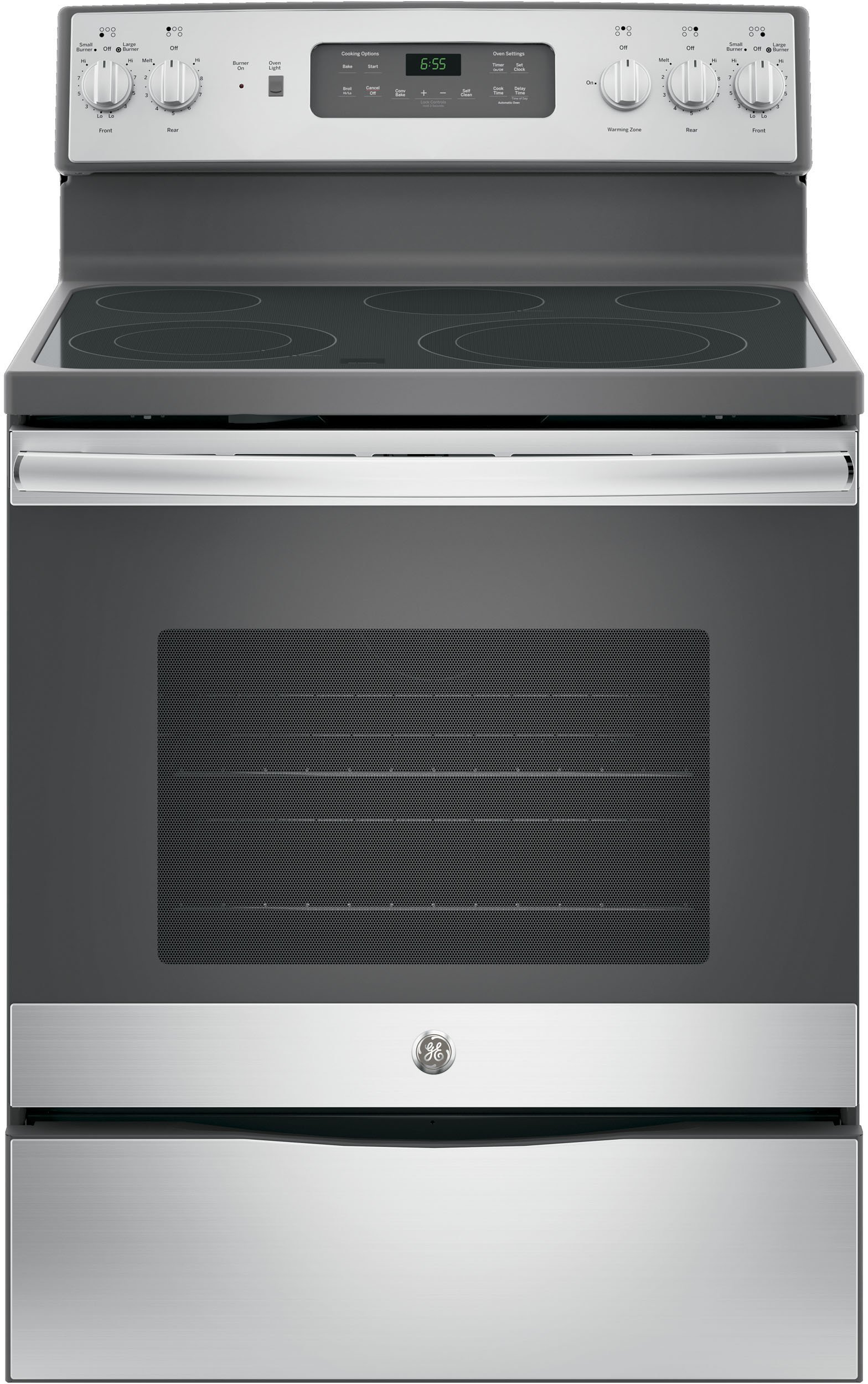 GE JB655SKSS 30'' Star K Freestanding Electric Range with 5 Radiant Elements, 5.3 cu. ft. Oven Capacity, Stainless Steel