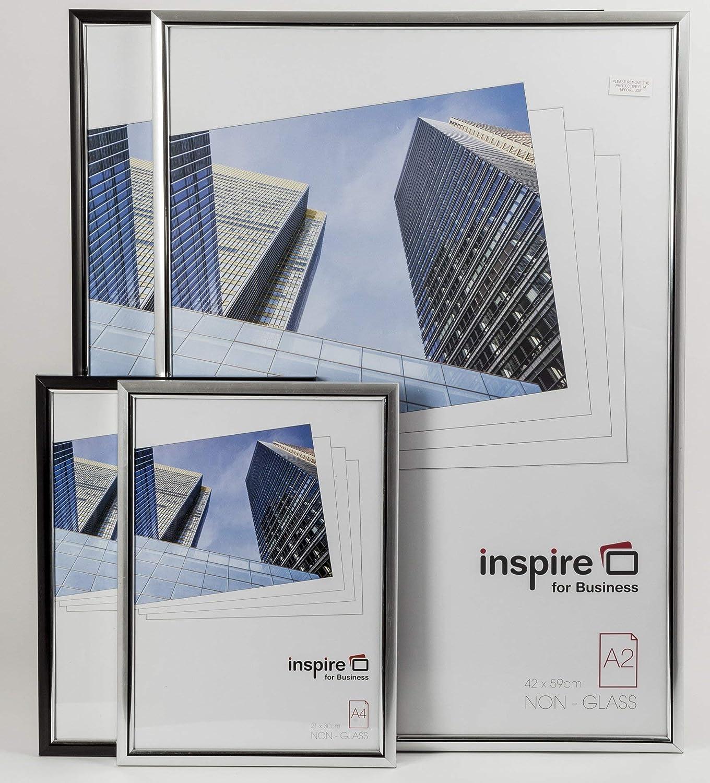 EASA4BKP Hampton Frames EASY LOADER Poster Certificate Photo Frame Plexi Black A4 21x30cm