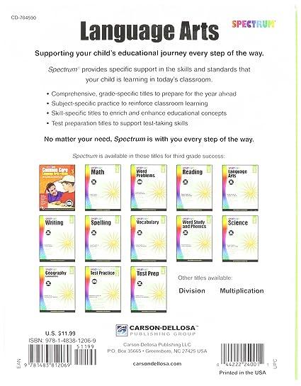 Amazoncom Spectrum Language Arts Gr 3 Office Products