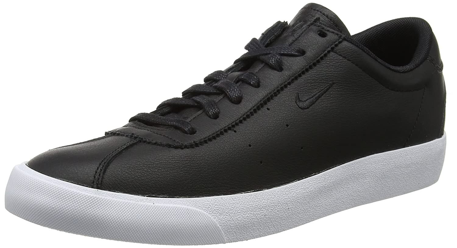 Nike Herren Match Classic Leather Sneaker  45 EU|Schwarz (Black/Black)