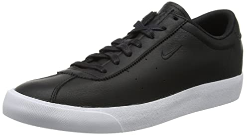 Nike All Court 2 Low Leather, Zapatillas para Hombre, Negro (Black/Black-White), 42.5 EU
