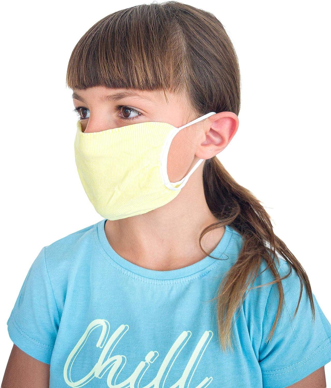 Tissu Lavable r/éutilisable Absorbant bact/ériostatique Bandes filtrants Bouche Nez Relaxsan Enfants