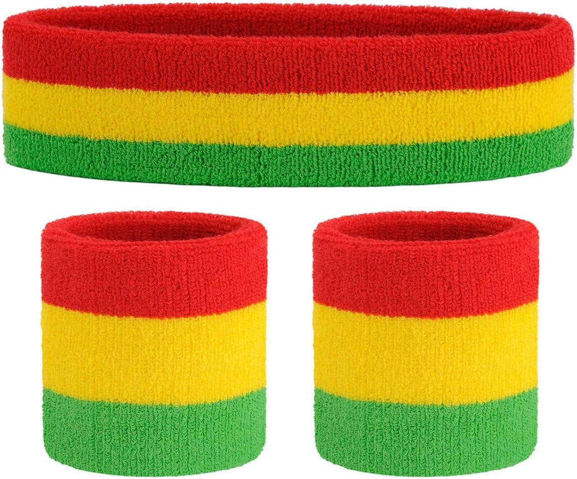 ONUPGO Sports Bracelet Coton Doux Poignet Bandeau pour Homme ou Femme Absorbe la Transpiration Bracelet Paire