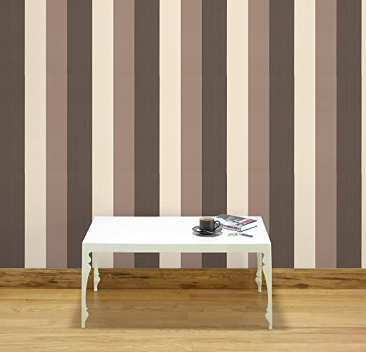 Boutique Figaro Brown Cream Wallpaper Amazoncouk Kitchen Home - Brown and cream wallpaper