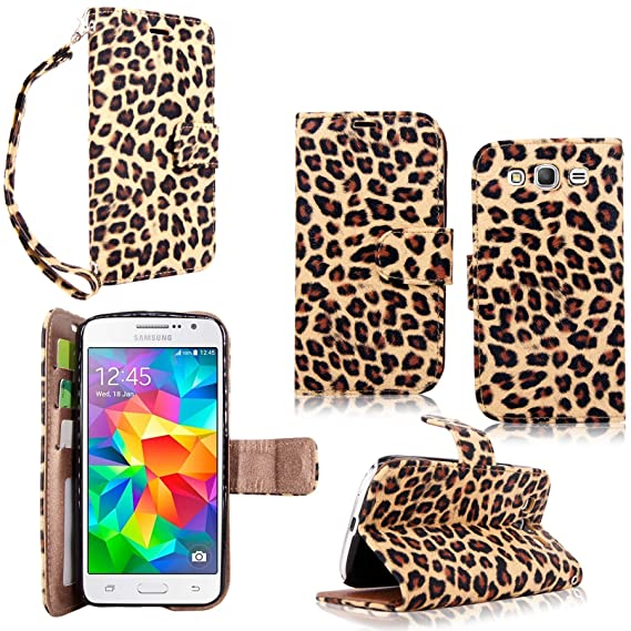 d67d53f68a259 Galaxy Grand Prime Case - Cellularvilla Pu Leather Wallet Flip Open Pocket  ID Card Holder Slots Case Cover Stand with Wrist Strap for Samsung Galaxy  ...