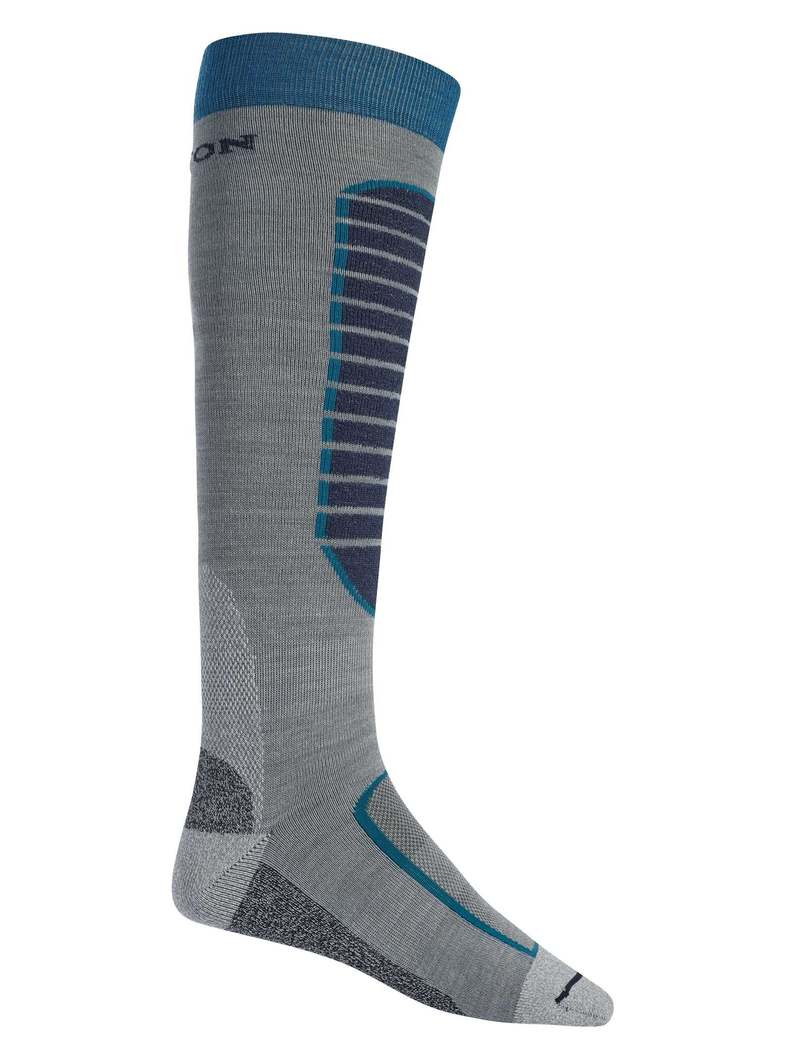 Burton Men's Merino Phase Snowboard Socks Monument Heather Size Large 10.5-13.5 by Burton