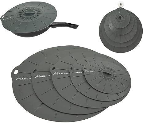 Tapa de silicona Ventosa, por Archer – Set de 5 profesional succión contenedor sellos –