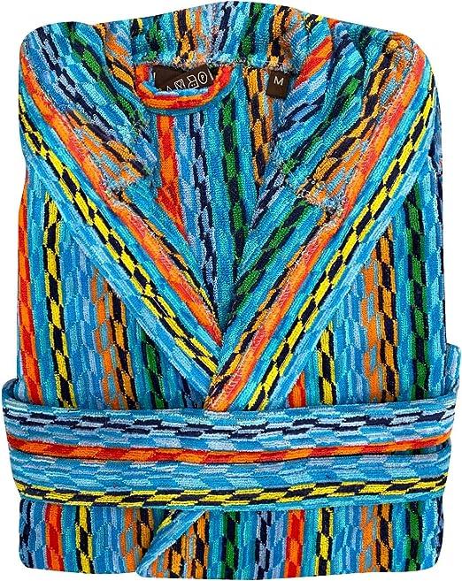 Easy Home - Albornoz para hombre y mujer, de rizo con capucha y bolsillos, mod. Missouri de suave rizo 100% algodón. Diseño italiano. azul Variante 1 M: Amazon.es: Ropa y accesorios