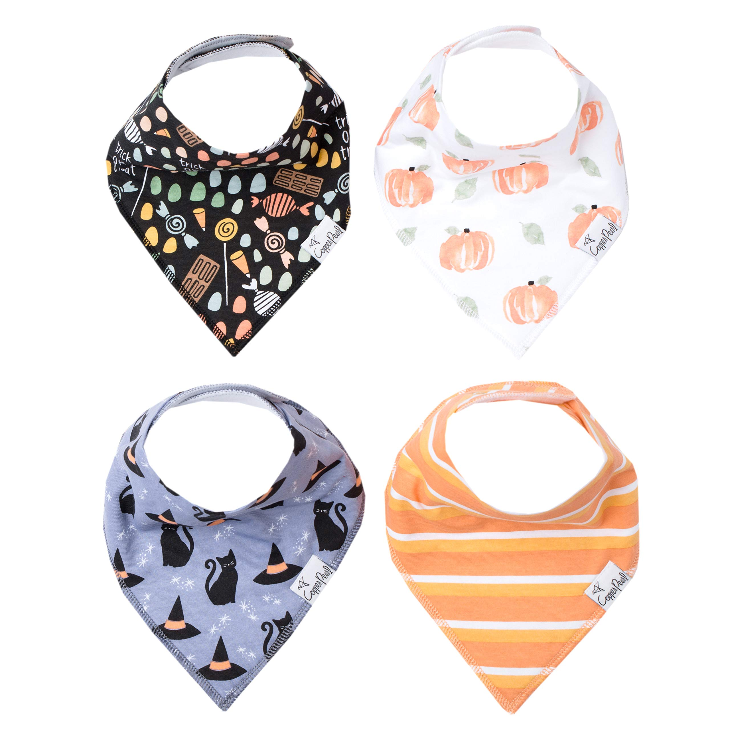 Baby Bandana Drool Bibs for Drooling and Teething 4 Pack Gift Set ''Wicked'' by Copper Pearl by Copper Pearl