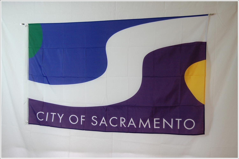 Apedes Sacramento City Garage Hangar Basement Flag 3x5 Feet