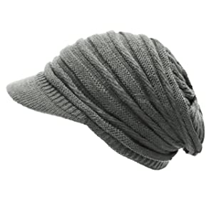 The Hat Depot 700WH-WA9 Knit Visor Hat-6colors (Dark Grey)