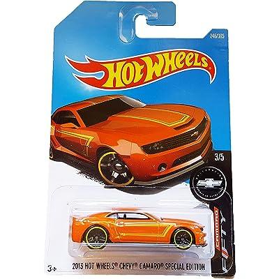Hot Wheels 2020 Camaro Fifty 2013 Hot Wheels Chevy Camaro Special Edition 246/365, Orange: Toys & Games