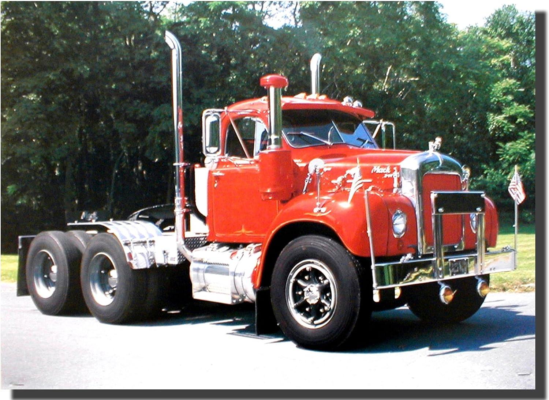 Semi Truck Driver Patent Print Peterbilt Mack Toys Car Hauler Wall Art Decor