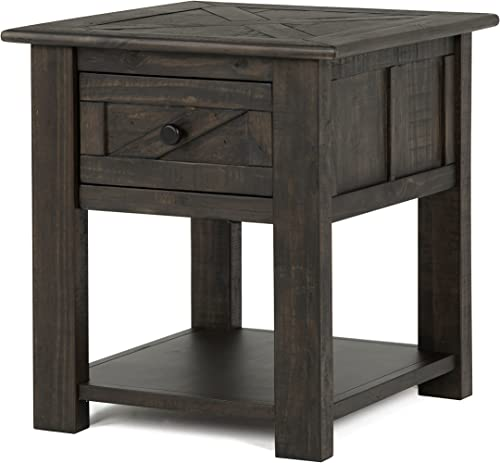 Magnussen Garrett End Table in Weathered Charcoal